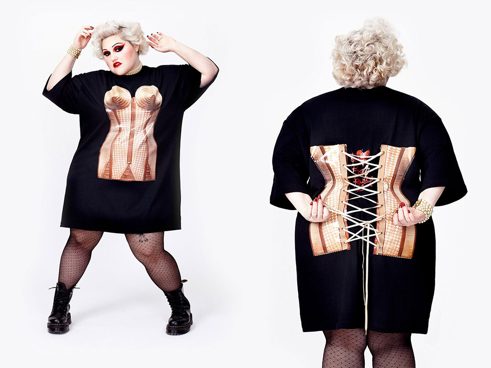 Beth Ditto clothing line jean paul gaultier