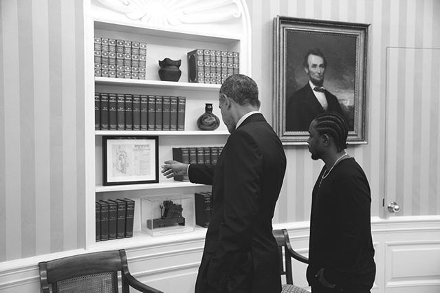 Kendrick lamar with president obama