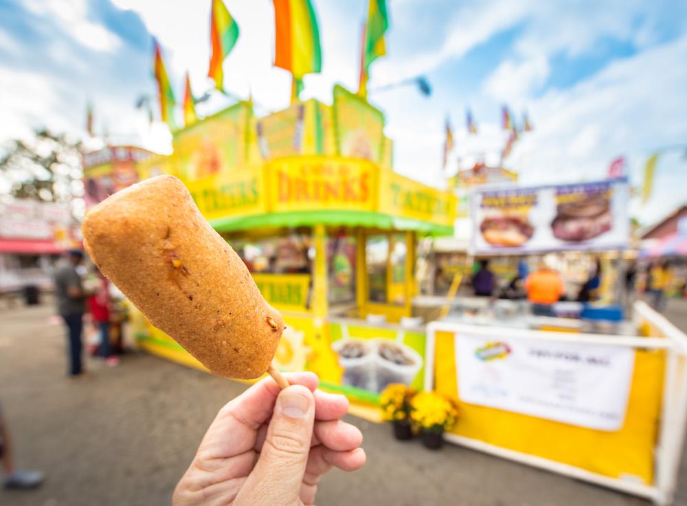 Deep fried candy bar at the Arkansas State Fair
