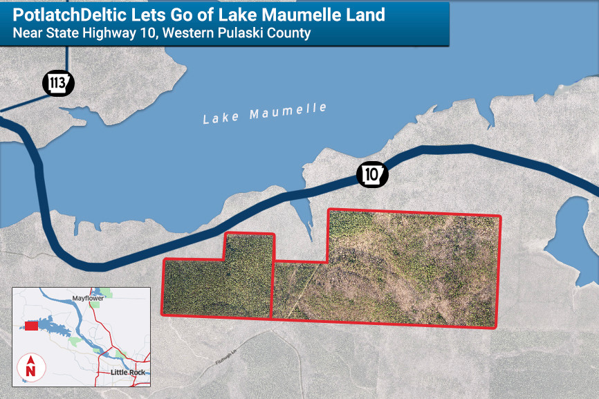 PotlatchDeltic Sells Lake Maumelle Tract for $3.6M