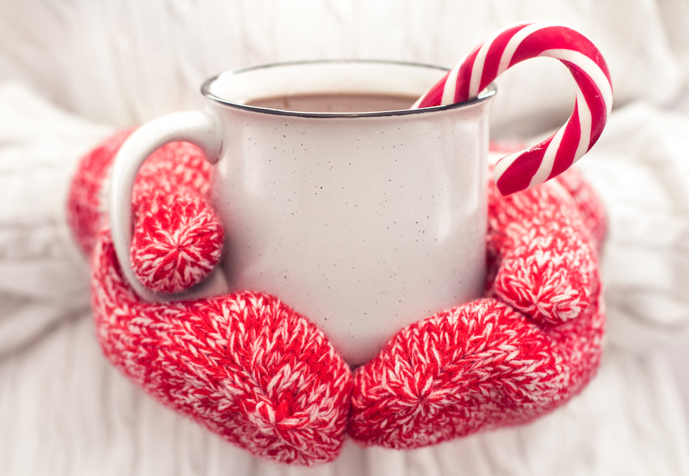 Hot chocolate, hot cocoa, Christmas, holidays, candy cane