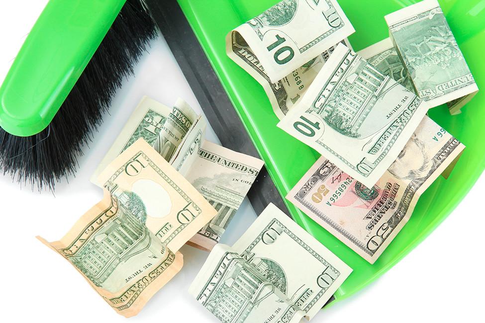 LR Family April 2019 sweeping money cash