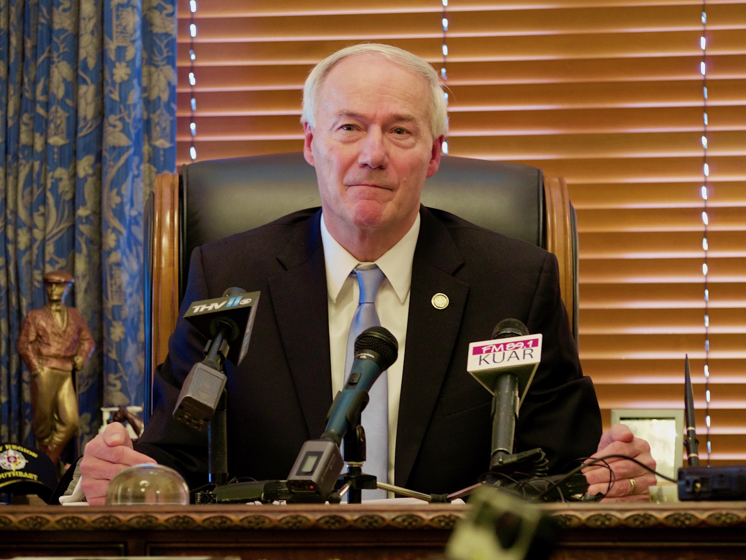 Asa Hutchinson Defends Decision to Accept New Refugees