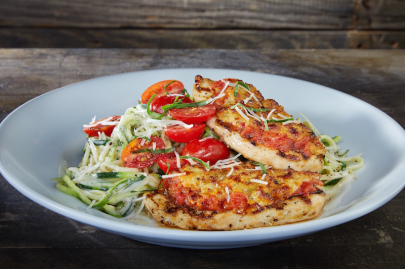 Taste This: Dave & Buster's Tuscan Chicken Alfredo with Zoodles