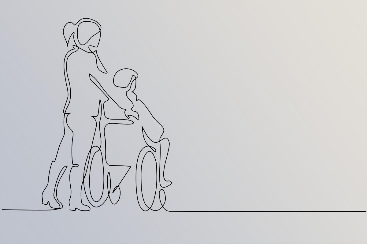 caregiver glossary line illustration 126301