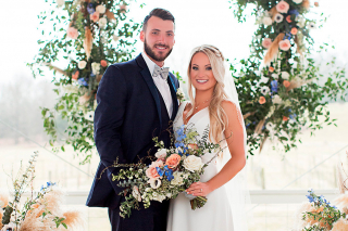Sarah Connley and L.A. Rams Quarterback Brandon Allen's Vineyard Wedding