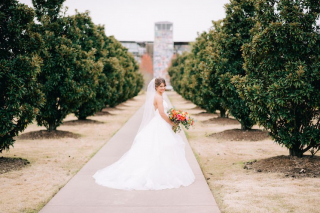 Katie's Beautiful Bridal Sesh at the Clinton Presidential Center