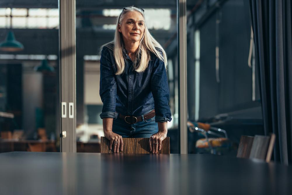 Female entrepreneur businesswoman in conference room