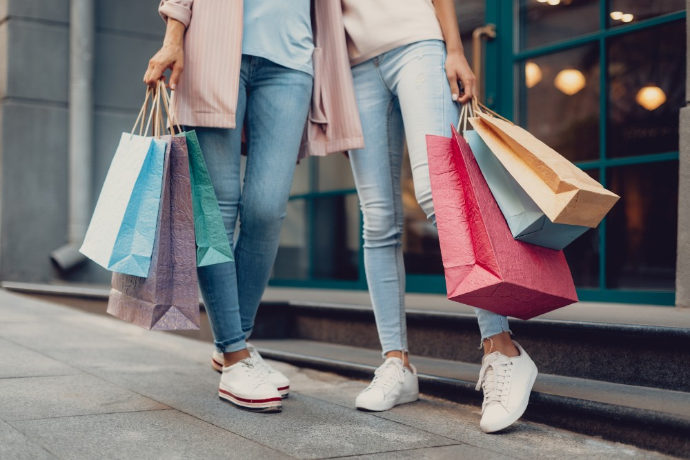 Shoppers, shopping