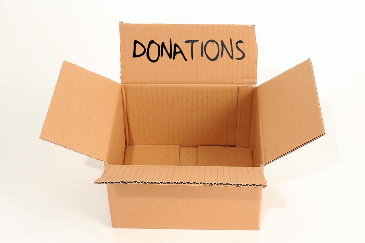 Empty box donations shutterstock illustration Giving 128625