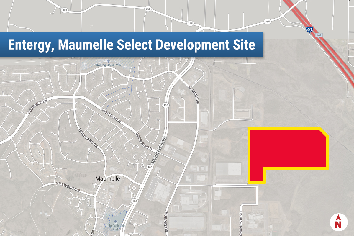 Maumelle Site Ready for Business, Entergy's Games Says