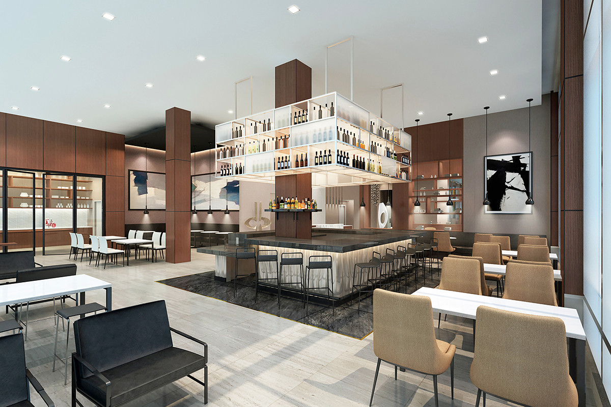 An artist's rendering of the AC Hotel Little Rock's bar at 201 W. Capitol Ave.