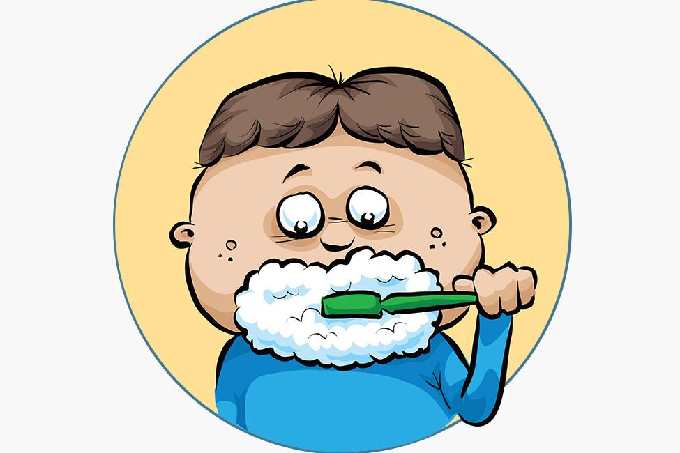 LRF FEB20 129769 Kid brushes teeth shutterstock illustration