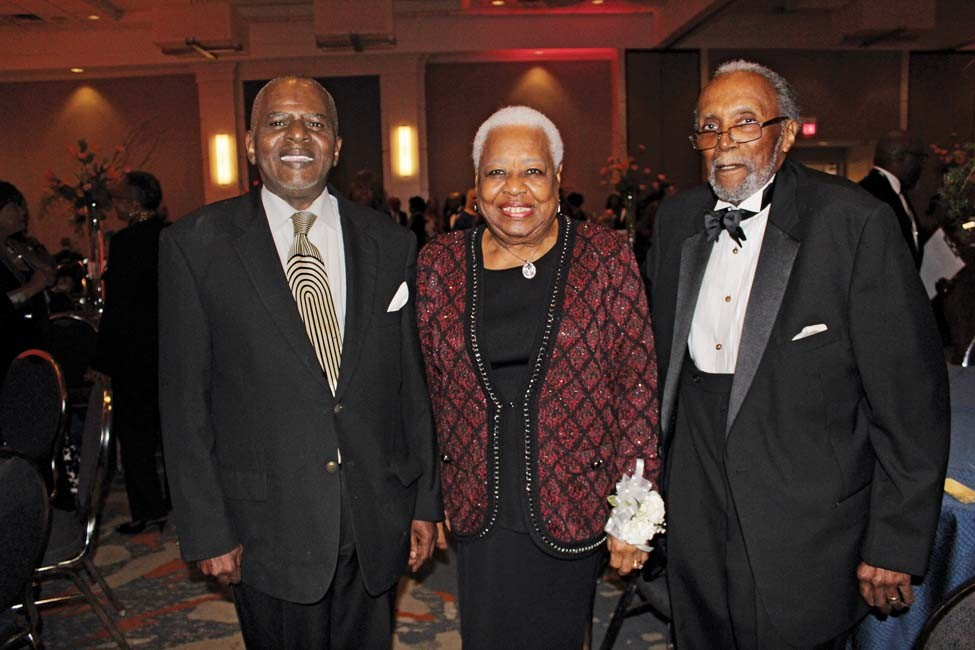 Bobby Prescott, Irma Hunter Brown and Dr. Roosevelt Brown