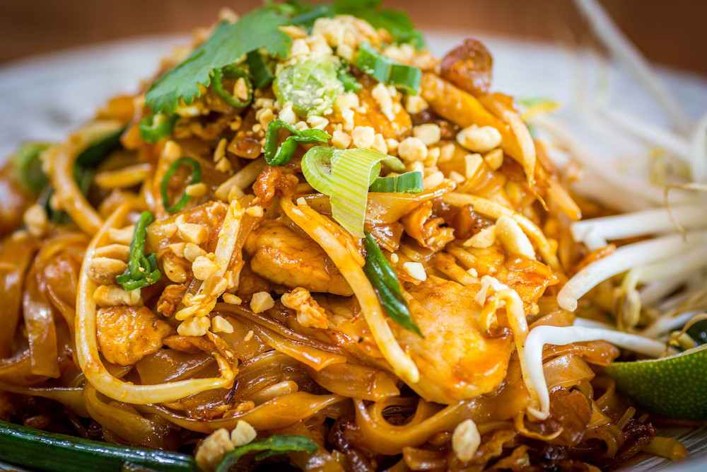 Pad thai Asian cuisine