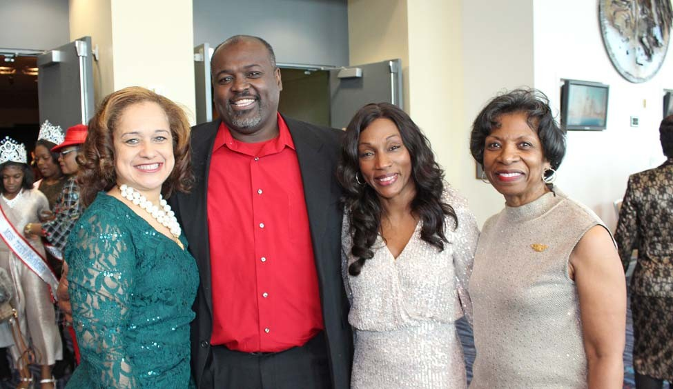 Wanda and John King, Doris Washington, Frances Harris