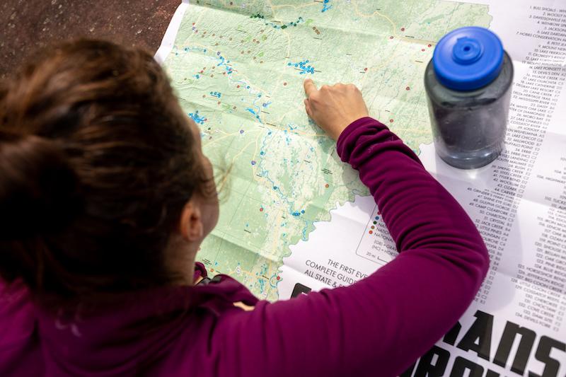 Camp Arkansas Comprehensive Campsite Map