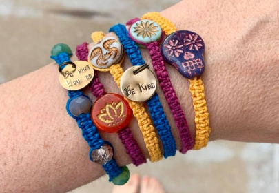 Get Crafty While Social Distancing With This DIY Macrame Bracelet Tutorial