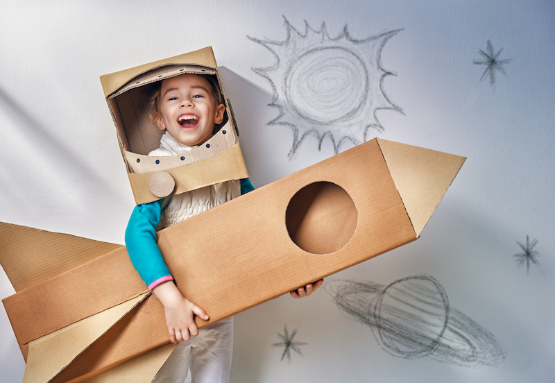 Kid with Box