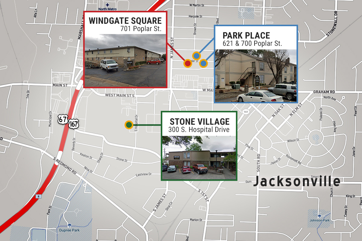 Jacksonville Apartment Properties Flipped in $7.3M Combo