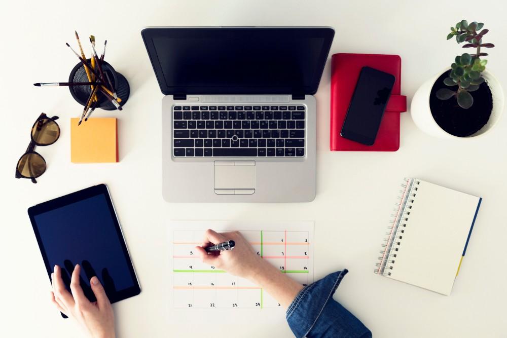 Desk calendar planner agenda workspace