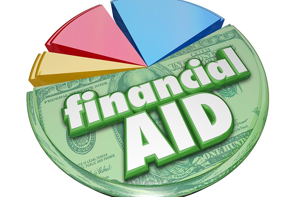 shutterstock next financial aid pie chart
