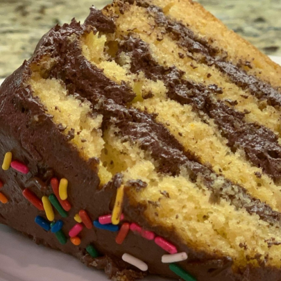 From Z to A: How to Make Yellow Cake & Whipped Chocolate Frosting From Scratch