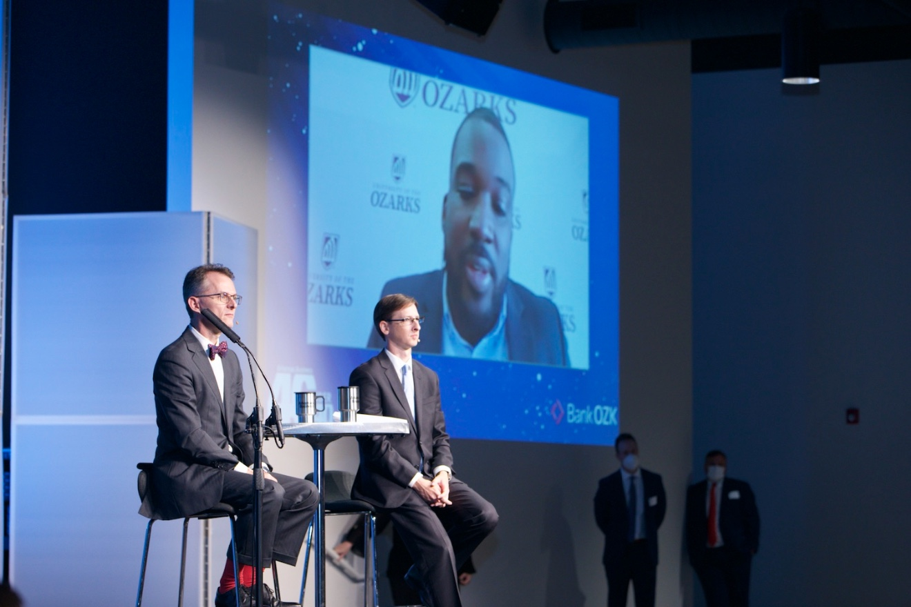 40 Under 40 honoree Reggie Hill appeared via live video.