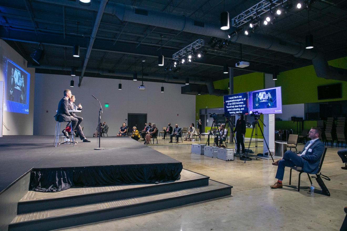 Inside the 2020 Arkansas Business 40 Under 40 virtual awards ceremony in Little Rock.