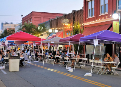 Argenta Closes Main Street to Traffic for Outdoor Weekend Dining