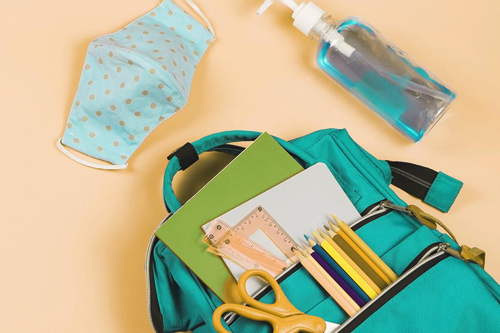 LRF 132520 Back to School backpack face mask sanitizer