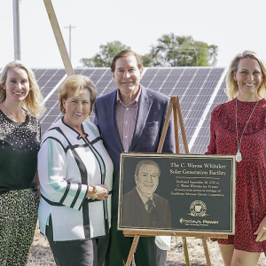 SWAEC Dedicates Solar Array to Retiring CEO, Wayne Whitaker