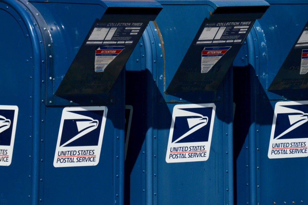 United States Postal Service mailboxes, USPS, absentee voting
