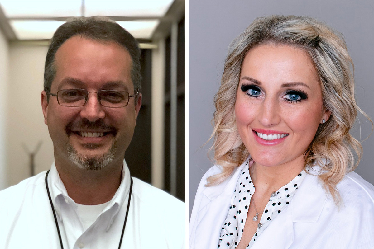 Dr. Dirk Haselow of Baptist Health in Little Rock and Lacey Kennon of Baptist Health Orthopedics in Fort Smith