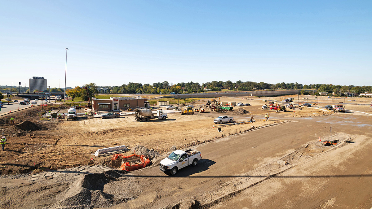 Most of the site work for The District at Midtown in Little Rock should be complete  before year's end.