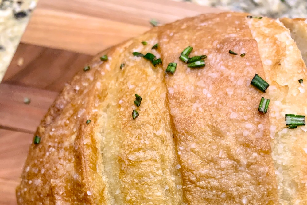 From Z to A: Garlic Rosemary Boule