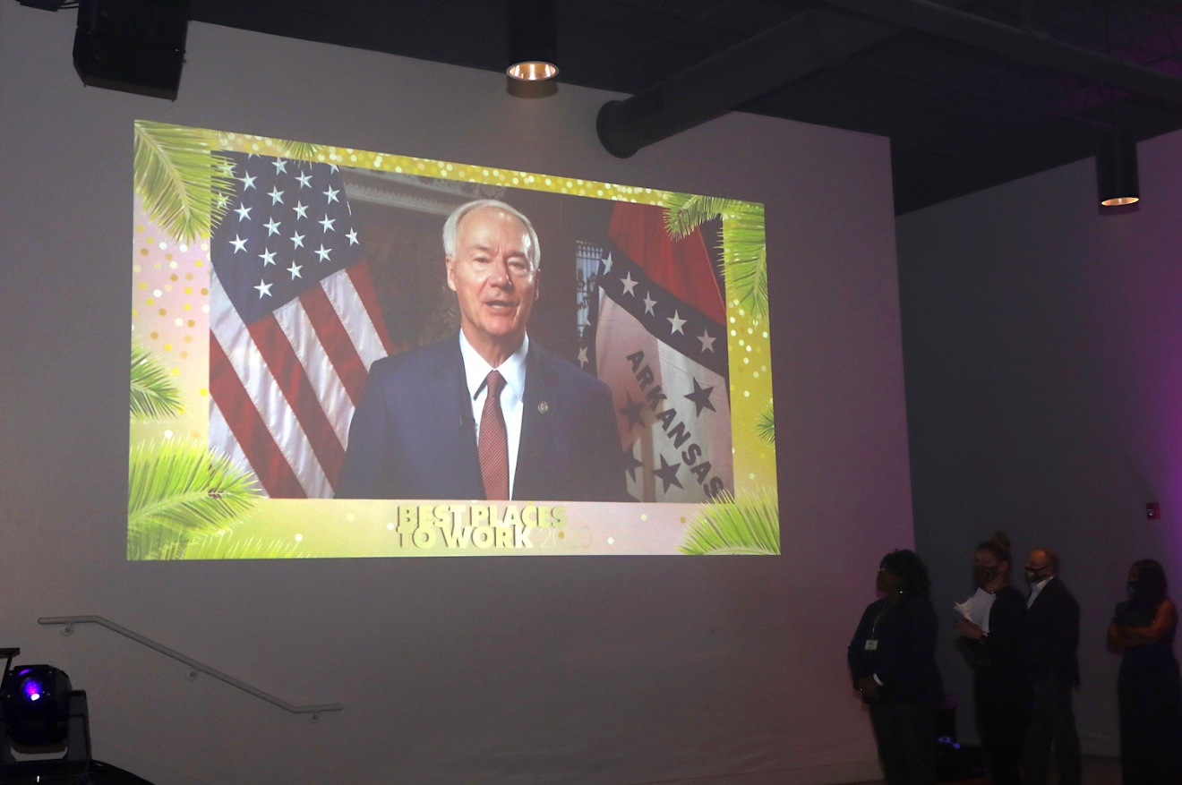 Gov. Asa Hutchinson commended Best Places to Work honorees for their efforts to make Arkansas a better place to work for companies and employees.
