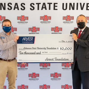 Arvest Gives $10K to A-State Foundation