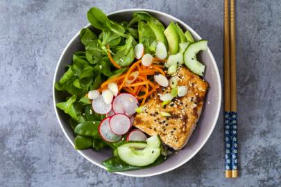 From Z to A: Teriyaki Salmon Bowl Recipe