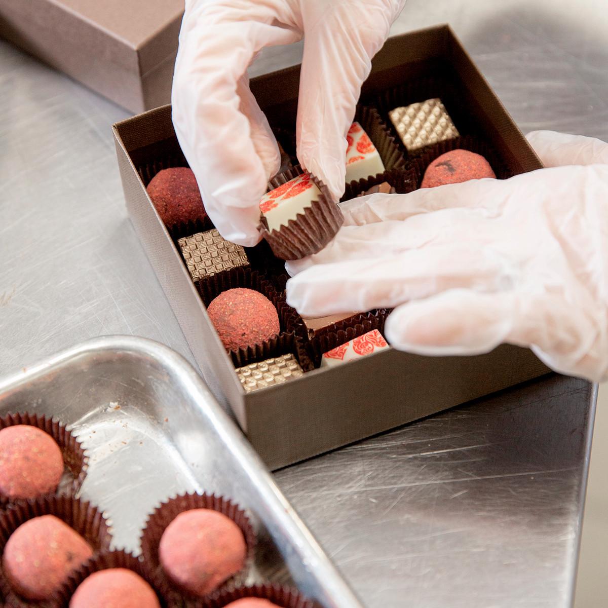 Carmen Portillo's chocolate truffles are handmade and beautiful.