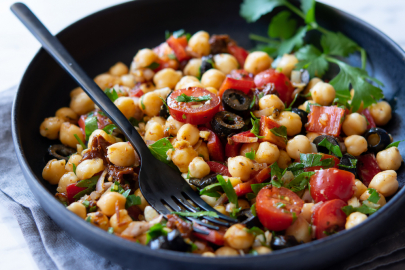 From Z to A: Greek Chicken & Chickpea Salad Recipe