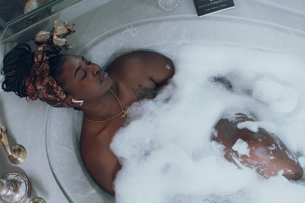 bathtub, relax, self-care