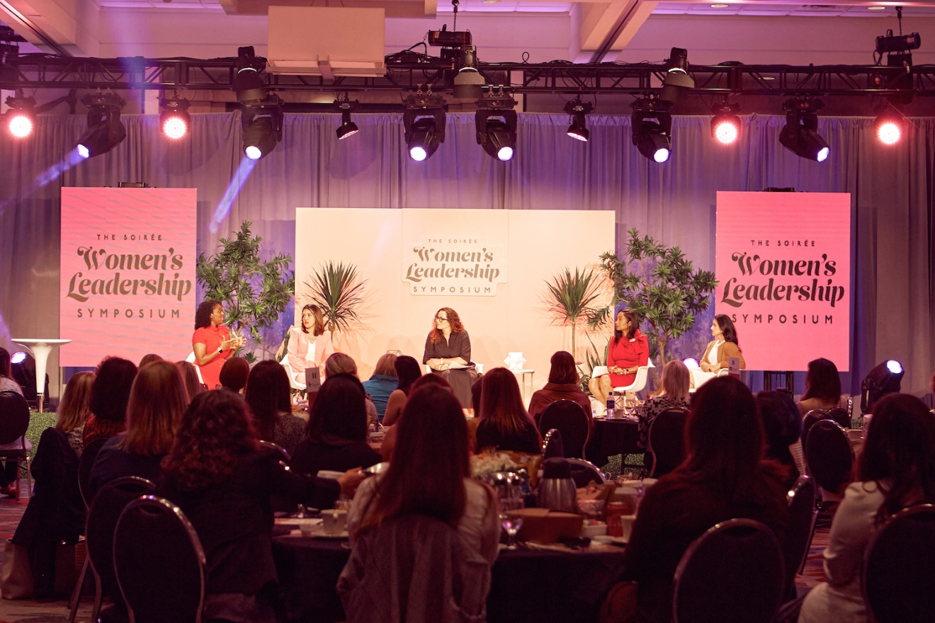 Little Rock Soirée Publisher Mandy Richardson (center) moderates a panel called