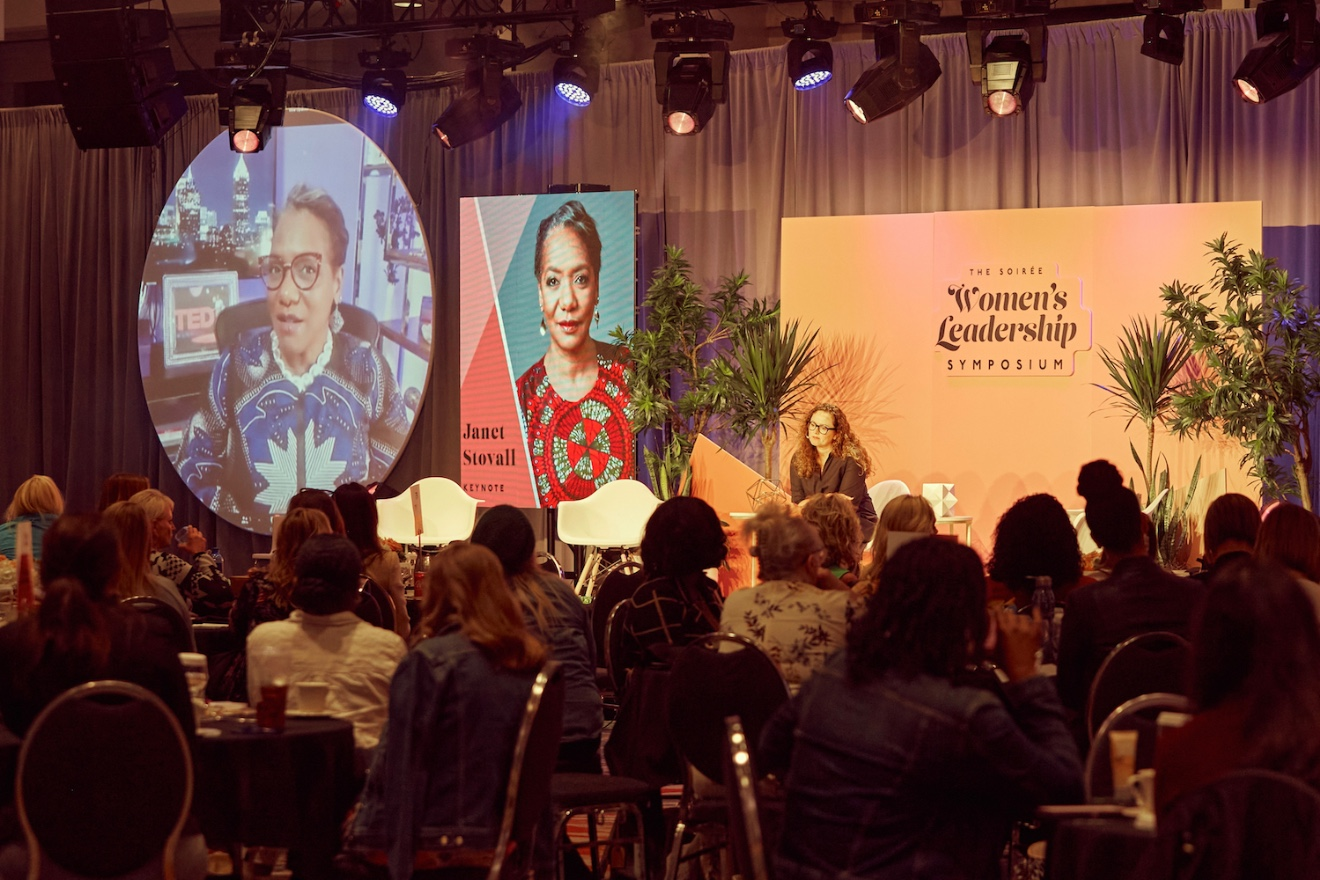 Janet Stovall (on screen), a senior client strategist at NeuroLeadership Institute, talks to Little Rock Soirée Publisher Mandy Richardson about how organizations can best address issues of race in the workplace.