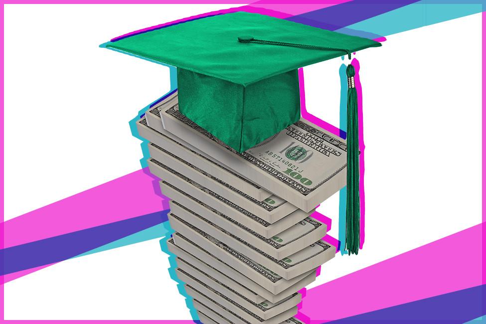 Next Money 135729 graduate stacks of money cash shstk