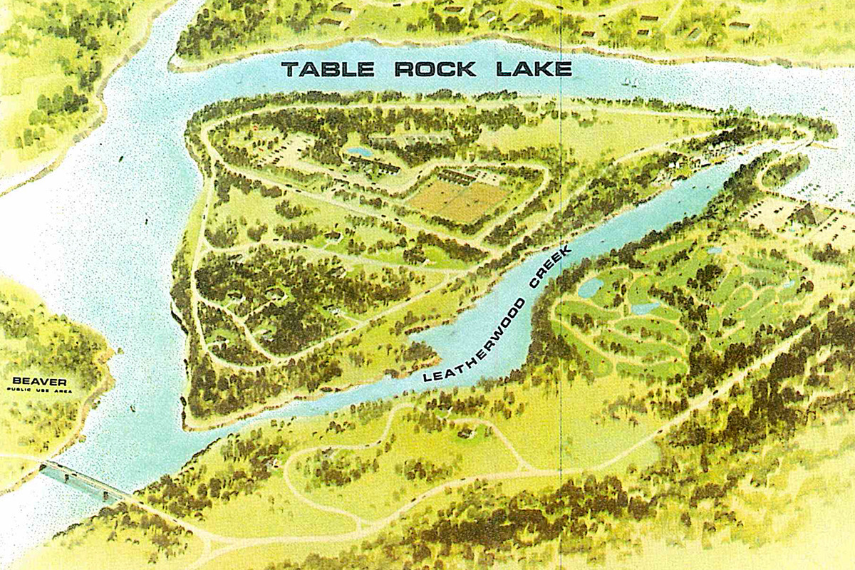 Table Rock Lake rose after the White River was dammed in the late 1950s.