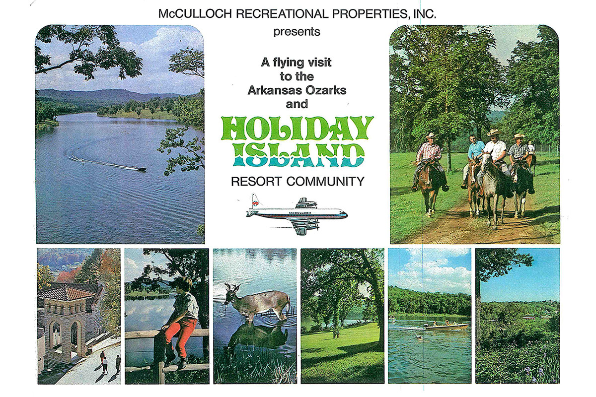 Once a ranch with fishing cabins along a bend in the White River, Holiday Island saw a lot of horseback riding and other recreation in the 1970s.