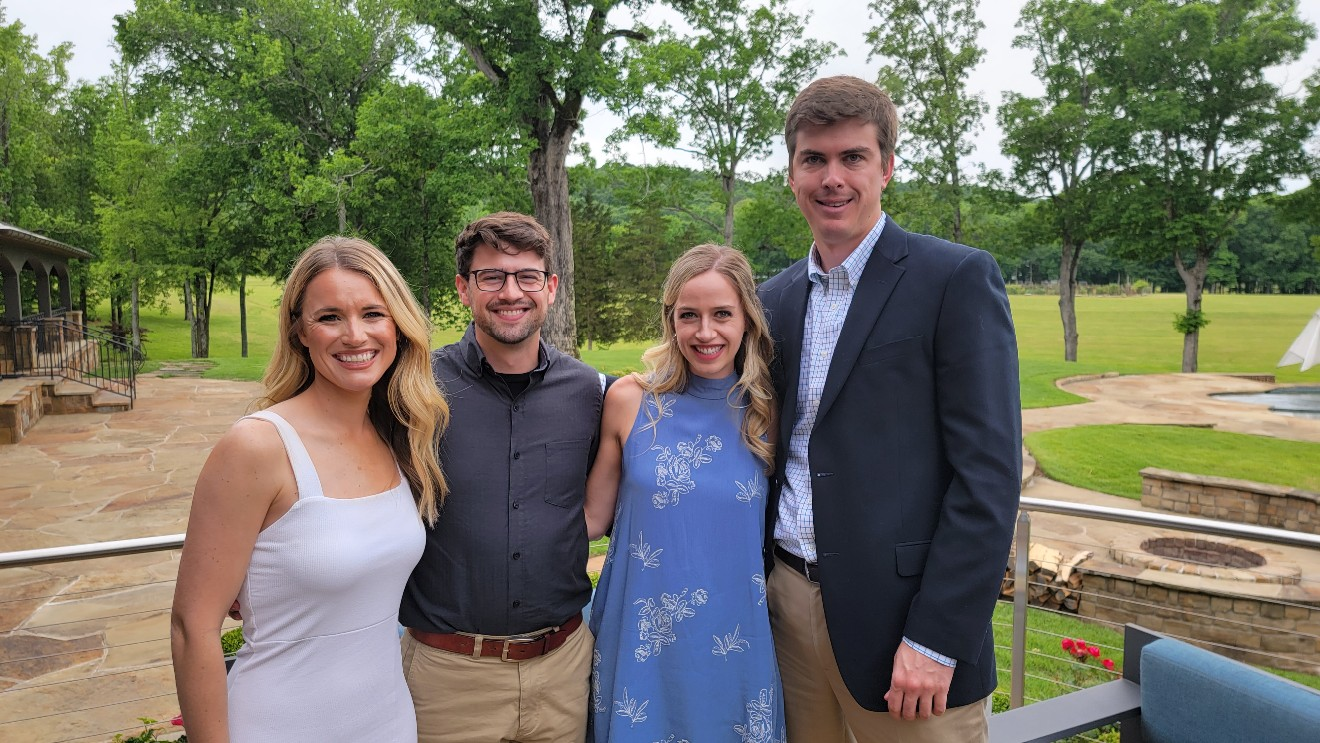 Katie and Ben Emanuel, Abby Emanuel, Daniel Fiedorek