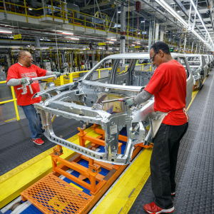 U.S. Factory Output Dips 0.1% in June on Auto Chip Shortage