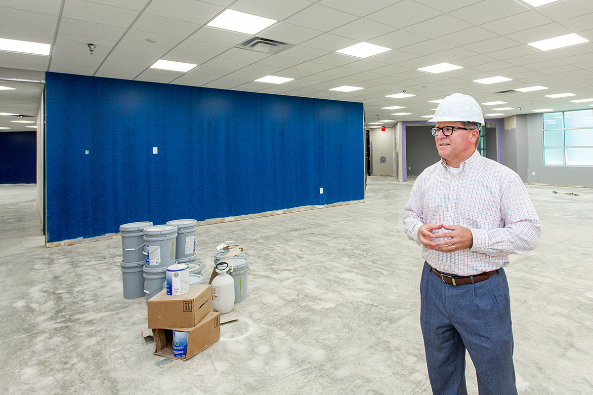 Arkansas Federal Credit Union's Rodney Showmar talks about the $17.4 million purchase-facelift of the former FamilyLife Building in Little Rock.